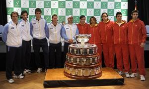 Argentine and Spanish Davis Cup Teams