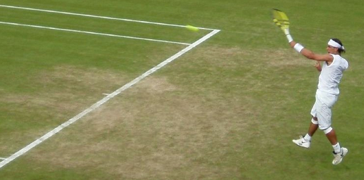Rafael Nadal on Grass