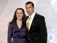 Stepanek With Martina Hingis