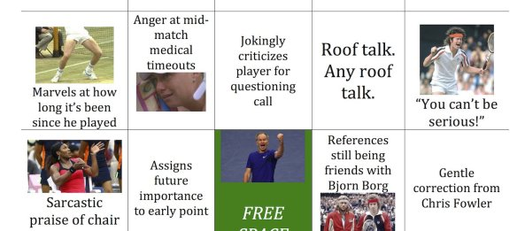 Play 'John McEnroe Bingo' on Busted Racquet